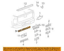 2007-2012 Chevrolet Silverado Chrome Tailgate Emblem Nameplate new OEM 15129652