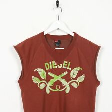 Vintage DIESEL Sleeveless Sweatshirt Jumper Gilet Red | Medium M