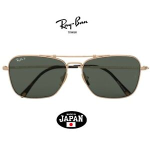 Gold plated RAY-BAN TITANIUM Caravan sunglasses RB8136M 9143  Made In Japan