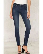 nasty gal Cheap Monday Mid Snap Skinny Jeans 26 burnt blue