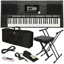 Yamaha PSR-S970 Arranger Workstation Keyboard STAGE ESSENTIALS BUNDLE
