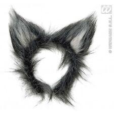 Orejas de lobo gris Fluffy desaliñado disfraz de Halloween Accesorio Fancydress Animal