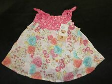 BNWT ~ BABY GIRLS SIZE 00  3-6months COTTON FLORAL SWING TOP ~ NEW