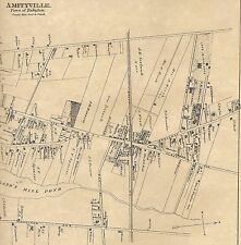 Amityville Babylon NY 1888 Maps with Homeowners Names Shown