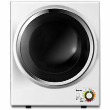 Costway Tumble Dryer Electric Compact Clothes Laundry Dryer - Stainless Steel