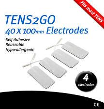 4 grandes electrodo auto-adhesivo para decenas & parto marcado CE 40x100mm