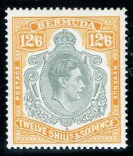 More details for bermuda 1938 sg120b 12/6 perf 14 indent in lh scroll superb u/m/m cat. £110.00