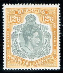 Bermuda 1938 SG120b 12/6 Perf 14 Indent in LH Scroll Superb U/M/M Cat. £110.00