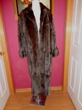CAROLE LITTLE MEDIUM HEAVY VINTAGE SHADES OF BROWN SHEARED BEAVER COAT  NEW