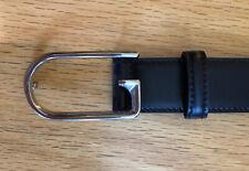 Gucci Men's G Buckle Black Leather Belt 34