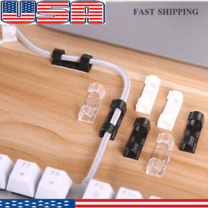 50 x 6mm Negro Clips Rondos de cable de pared Clavos de pared de cable Maneja el cable el/éctrico CAT5//CAT6,RG6,RG59,RJ45 Cable en Hogar Accesorios de escritorio Oficina