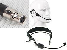 Mini XLR Ta3f Headworn Headset Head-mounted Microphone for AKG Samson Wireless