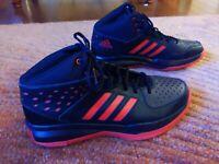 Men's Adidas Hard Court Basketball Sneakers | Black Men's Size 13