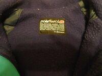 Women's Malden Polar Fleece Size S Small Green Coat Front Zipper Malden