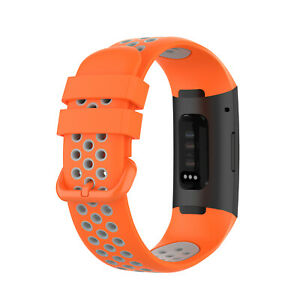 For Fitbit Charge 3/4 Watch Band Replacement Silicone Breathable Wrist Bracelets