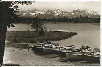 Ansichtskarte Aitrang - Elbsee - Uferpartie mit Booten - schwarz/weiß