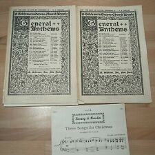 Vintage Sheet Music The King Of Love My Shepherd Is &Three Songs For Christmas