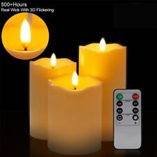 Flameless Candles shape lamp Real Wax Battery Powered Led Tea Lights 3Pcs/Set