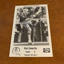 1986 New England Patriots Frito Lays Signed Football Team Issue Rich Camarillo