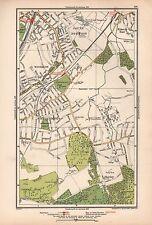 1933 London Map-South Norwood,Elmers End,Woodside,Addiscombe,S hirley