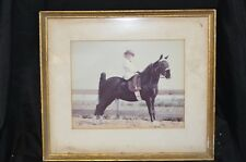 Equestrian Picture Print Show Horse Child Riding Competition Frame Vintage Decor