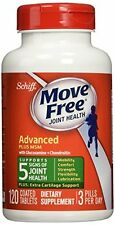 3 Pack SCHIFF - Move Free Advanced Plus 1500 mg MSM - 120 Tablets Each