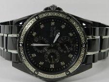 Bulova Men's Diamond Accent Two Tone Bracelet Watch 42mm 98E003
