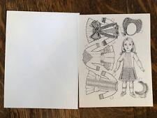 Paper Doll Greeting Card, By Peggy Joe Rosemond, 1978 Doll, Unused, Envelope
