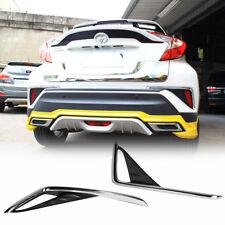 For TOYOTA C-HR CHR Fog Light Trim Tail Lamp Frame Cover Chrome + Carbon Texture
