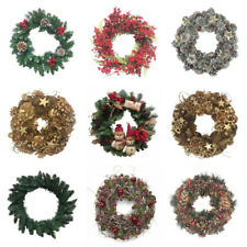 Christmas Door Wreath Garland Red Gold White Silver Berry Xmas VARIOUS DESIGNS