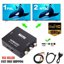 HDMI to RCA Composite AV Converter Kit 1080P HDMI to 3RCA CVBS Works With Roku
