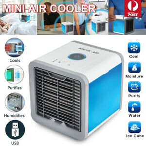 Air Cooler Fan Mini Portable Air Conditioner Cooling Fan Humidifier Desk usb Fan