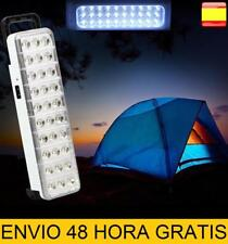 linterna recargable lampara led camping trabajo cochera emergencia 30 LED