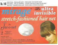 Jac O Net 146 Mirage Invisible ultra Hair Net gray white pour gris ou blance