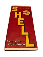Vintage Radio Log 1939 Philadelphia, Pennsylvania Road Map the Shell Oil Company