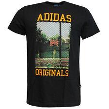 Camisetas de hombre negro adidas