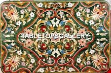 4'x2' Green Marble Restaurant Dining Table Top Marquetry Inlaid Home Decor H4494