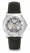 Harley-Davidson® Bulova Men's Eagle Bar & Shield Steel Leather Watch 76A12