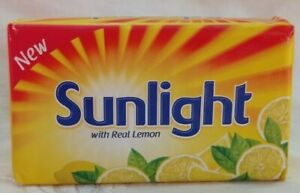 Sunlight Laundry Bar Soap With Real Lemon Detergent Hand Washing 4Soap Pack 115g