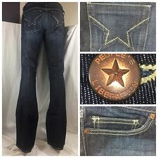 """Peoples Liberation Women's Jeans Sz 27 """"Bella""""W/Swarovski Crystals NWT CG259 M4U"""
