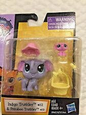 LITTLEST PET SHOP MOM AND BABY ELEPHANTS WITH PEANUT #112 #113 HARD TO FIND