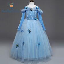 Girl Kid Cinderella Costume Birthday Party Dress Full Sleeve size 4-10 Years