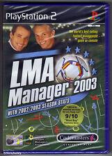 PS2 LMA MANAGER 2003 (2002), Regno Unito PAL, Nuovo di Zecca & Sony Sigillato in Fabbrica