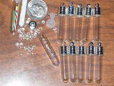 10 Lot tube Glass bottles vials charms findings pendant