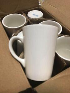 6 x Mug 24cl White Ceramic Cup Utopia PureWhite 8.5oz E90024 Tableware Coffee