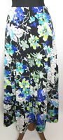 Noni B Womens Sz S-M Floral Layered Long Maxi Skirt Elastic Waist Long VGC