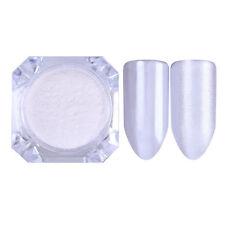 2g Mirror Perle Pulver Shimmer Mermaid Glitzer Pigment Makeup Puder Deko Weiß