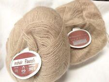10 Pelotes laine mohair couleur : beige rosé
