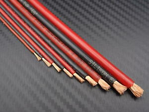 Silikonkabel 1m, rot oder schwarz, 0,25/0,5/0,75/1/1,5/2,5/4,0/6,0/8,0mm²