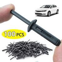 100X Nylon Rivet Clip Retainer Bumper Fastener For Ford GM Chrysler OE#6506007AA